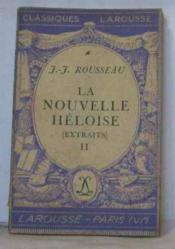 La nouvelle héloïse (extraits) II - Couverture - Format classique