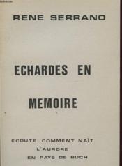 ECHARGES EN MEMOIRE Avec un envoi de l auteur. - Couverture - Format classique