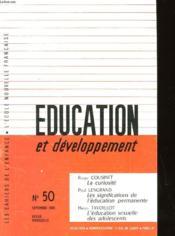 Education Et Developpement N° 50 - Couverture - Format classique