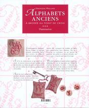 Alphabets anciens - a broder au point de croix - 4ème de couverture - Format classique