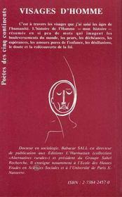 Visages D'Homme - 4ème de couverture - Format classique