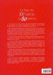 Le tour du XXe siècle en 80 timbres - 4ème de couverture - Format classique