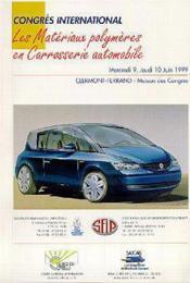 Les materiaux polymeres en carrosserie automobile - Couverture - Format classique