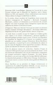 Napoleon - l'enigme de l'exhume de 1840 - 4ème de couverture - Format classique