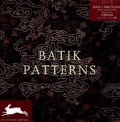 Batik patterns - Couverture - Format classique