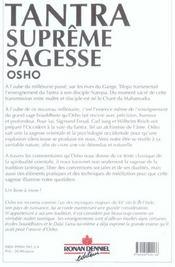 Tantra Supreme Sagesse - 4ème de couverture - Format classique
