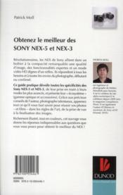 Obtenez le meilleur des Sony NEX-5 et NEX-3 - 4ème de couverture - Format classique