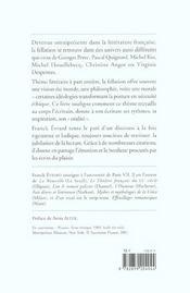 De la fellation dans la litterature - 4ème de couverture - Format classique