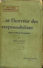 Et L Horreur Des Responsabilites.Suite Au Culte De L Incompetence. - Couverture - Format classique