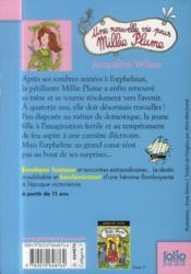 Une nouvelle vie pour Millie Plume - 4ème de couverture - Format classique