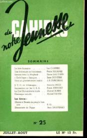 Cahiers De Notre Jeunesse - N°25 - Juillet/aout. - Couverture - Format classique