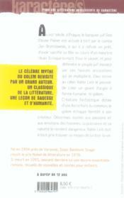 Le golem - 4ème de couverture - Format classique