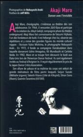 Akaji Maro ; danser avec l'invisible - 4ème de couverture - Format classique