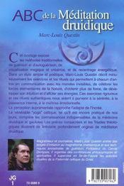 Abc de la méditation druidique - 4ème de couverture - Format classique