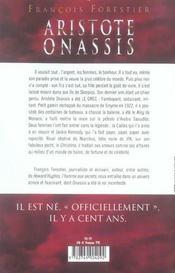 Aristote onassis - l'homme qui voulait tout - 4ème de couverture - Format classique
