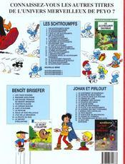 Schtroumpferies t.1 - 4ème de couverture - Format classique