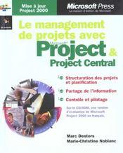 Management De Projets Avec Microsoft Project 2000 - Intérieur - Format classique