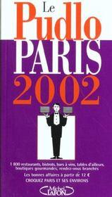 Le Pudlo Paris ; Edition 2002 - Intérieur - Format classique