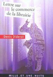 Lettre sur le commerce de la librairie - Intérieur - Format classique