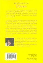 Divan - 4ème de couverture - Format classique