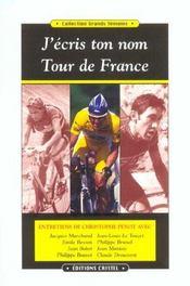 J'écris ton nom Tour de France - Intérieur - Format classique