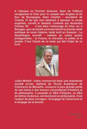 Vers l'unité de la France dans la littérature du XV siècle - 4ème de couverture - Format classique