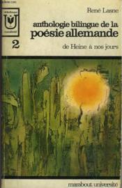 Enthologie Bilingue De La Poesie Allenmande De Heine A Nos Jours - 2 - Couverture - Format classique
