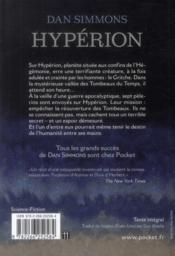 Hypérion - 4ème de couverture - Format classique