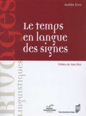 Le temps en langue des signes - Couverture - Format classique