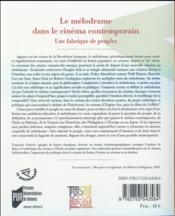Le mélodrame dans le cinéma contemporain ; une fabrique de peuples - 4ème de couverture - Format classique