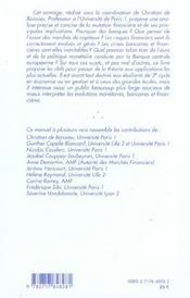 Les Systemes Financiers ; Mutations. Crises Et Regulation - 4ème de couverture - Format classique