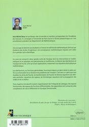 Cours D'Analyse Theorie Des Distributions Et Analyse De Fourier - 4ème de couverture - Format classique