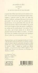 Clotilde ou le second procès de Baudelaire - 4ème de couverture - Format classique