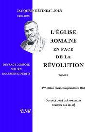 L'Eglise Romaine En Face De La Revolution - Couverture - Format classique