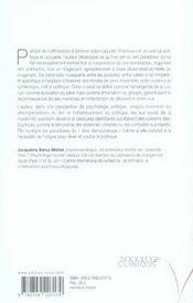 Le politique ; entre les pulsions et la loi - 4ème de couverture - Format classique