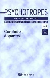 Revue Psychotropes N.8/3-4 ; Conduites Dopantes - Intérieur - Format classique
