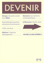 Devenir T.12 N.12 2000 - Intérieur - Format classique