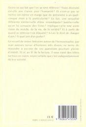 Le premier festin ; pour une litterature differente - 4ème de couverture - Format classique
