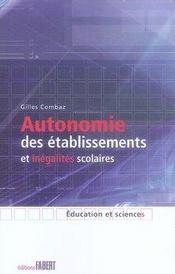Autonomie des établissements et inégalités scolaires - Intérieur - Format classique