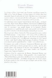 Crimes célèbres t.1 - 4ème de couverture - Format classique