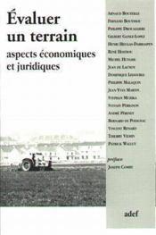 Evaluer Un Terrain Aspects Economiques Et Juridiques - Couverture - Format classique