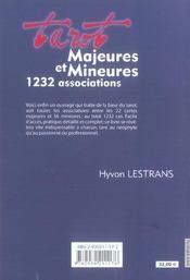 Tarot - majeures et mineures 1232 assoc. - 4ème de couverture - Format classique