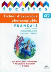 FACETTES ; CE2 ; fichier d'exercices photocopiable (édition 2009) - Couverture - Format classique