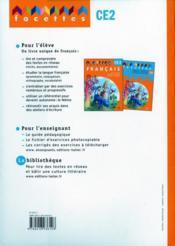 FACETTES ; CE2 ; fichier d'exercices photocopiable (édition 2009) - 4ème de couverture - Format classique