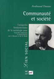 Communauté et société - Couverture - Format classique