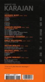 Herbert von Karajan et la musique française : Berlioz, Bizet, Debussy, Gounod, Ravel - 4ème de couverture - Format classique