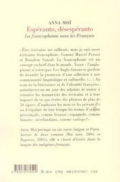 Esperanto Desesperanto - 4ème de couverture - Format classique
