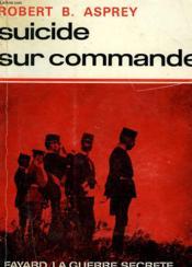 Suicide Sur Commande. - Couverture - Format classique