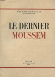 Le Dernier Moussem - Couverture - Format classique