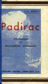 Padirac, Historique Et Description Sommaire - Couverture - Format classique